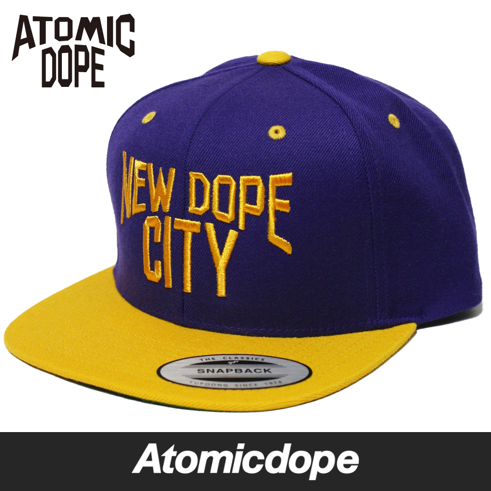 new style 14639 514e6 ... clearance one size fits all new dope city snapback cap purple gold snap  back cap hat