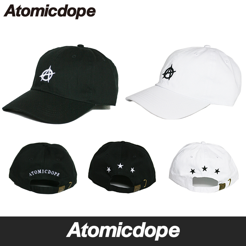 Anarchy ニューハッタンダッドハットストラップバックキャップ hat black and white New Hattan Dad Hat  Strapback Cap Black White atto- Mick dope adjustable size 19632706579d