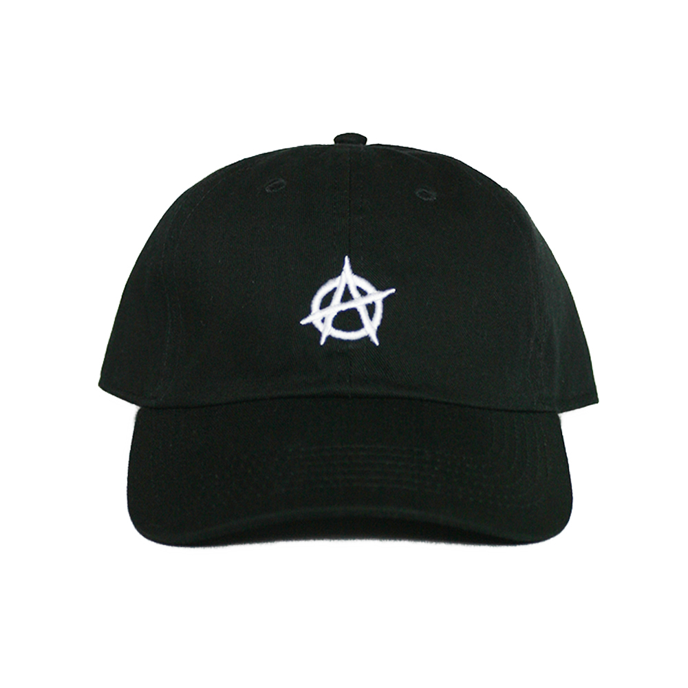 Anarchy ニューハッタンダッドハットストラップバックキャップ hat black and white New Hattan Dad Hat  Strapback Cap Black White atto- Mick dope adjustable size 96cf327ebeb