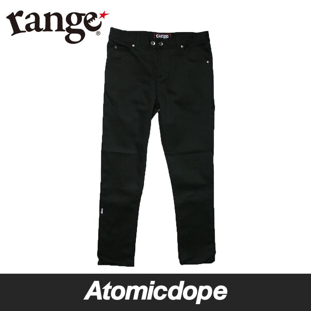 【送料無料】【range】stretch skinny fit denim デニム パンツ 黒 Black レンジ