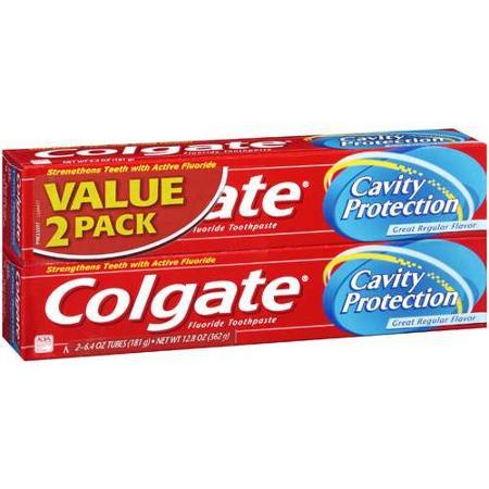 1本あたり 990 円 コルゲート キャビティプロテクション レギュラーフロライド トゥースペースト 2本セット 6.0oz Pack 低廉 Twin Regular Toothpaste Protection Colgate 爆安プライス 170g Fluoride Cavity