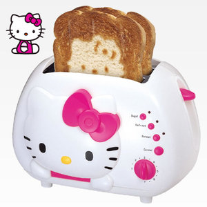 【お取り寄せ】ハローキティ ポップアップトースター Hello Kitty 2-Slice Wide slot toaster