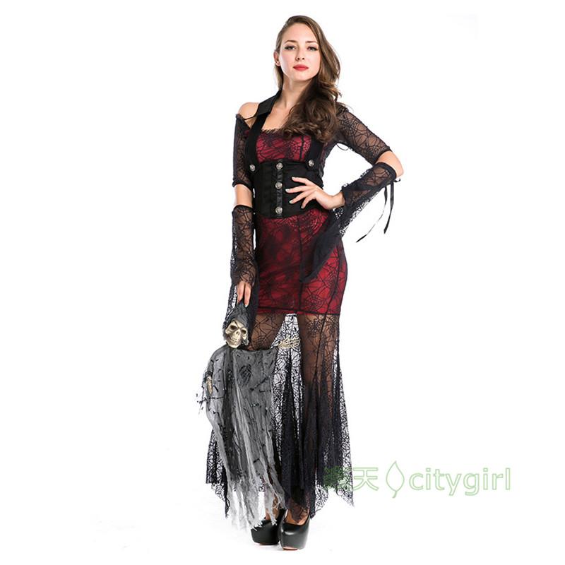 【CityGirl】ハロウィン 蜘蛛 大人用 舞台劇 コスチューム コスプレ衣装 Halloween コスプレ 衣装 仮装 文化祭 忘年会 舞台衣装 演出服 レディース パーティー用 女性用 悪魔 魔女 ヴァンパイア ワンピース