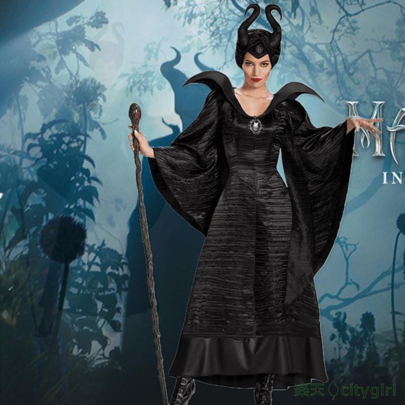 【CityGirl】ハロウィン 幽霊 巫女 大人用 悪魔 maleficent セクシー 舞台劇 コスチューム コスプレ衣装 仮装 文化祭 忘年会 舞台衣装 演出服 レディース パーティー用 女性用 ワンピース Halloween コスプレ 衣装