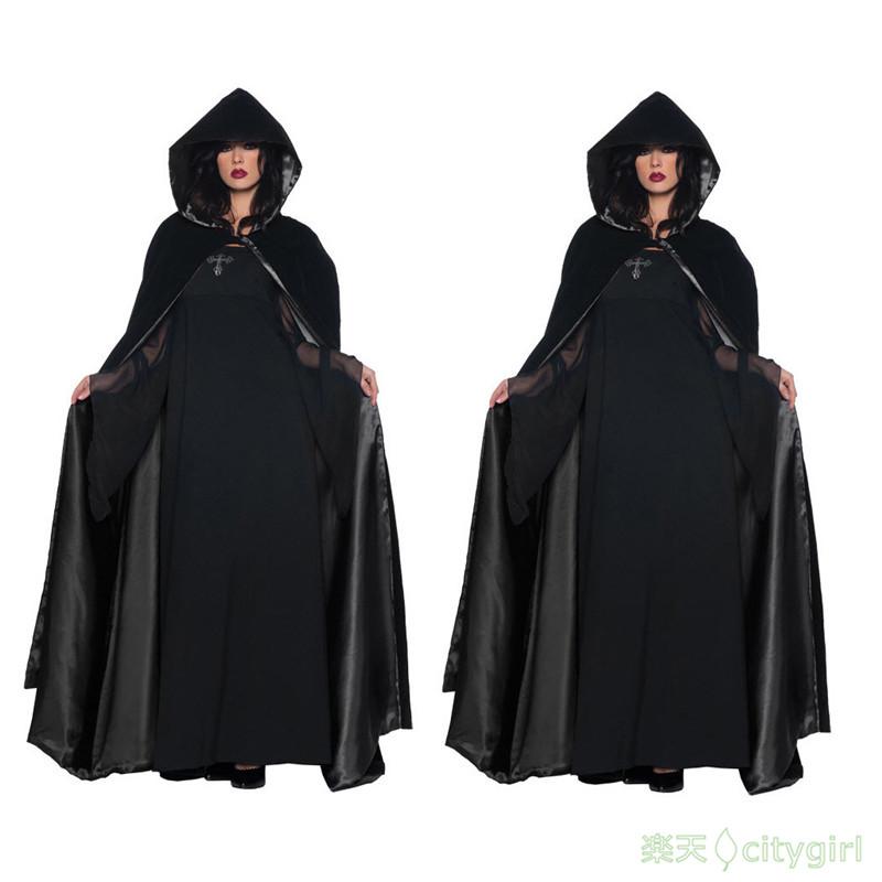 【CityGirl】 ホラー 怖い 巫女 悪魔 ロング ワンピース cosplay ハロウィン イベントに大人気 舞台劇 大人用 コスチューム コスプレ衣装 仮装 文化祭 忘年会 舞台衣装 演出服 レディース パーティー用 女性用