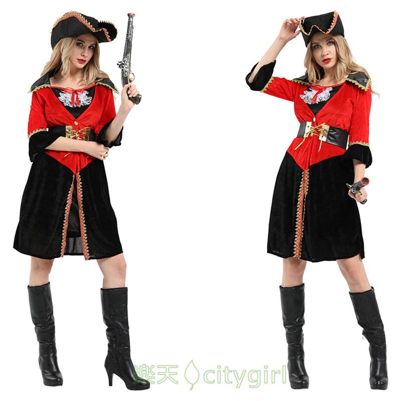 【CityGirl】ハロウィン コスプレ 女海賊 海賊服 可愛い かわいい プリンセス セクシー ワンピース アニメ 舞台劇 大人用 コスチューム コスプレ衣装 仮装 文化祭 忘年会 舞台衣装 演出服 レディース 女性用cosplay