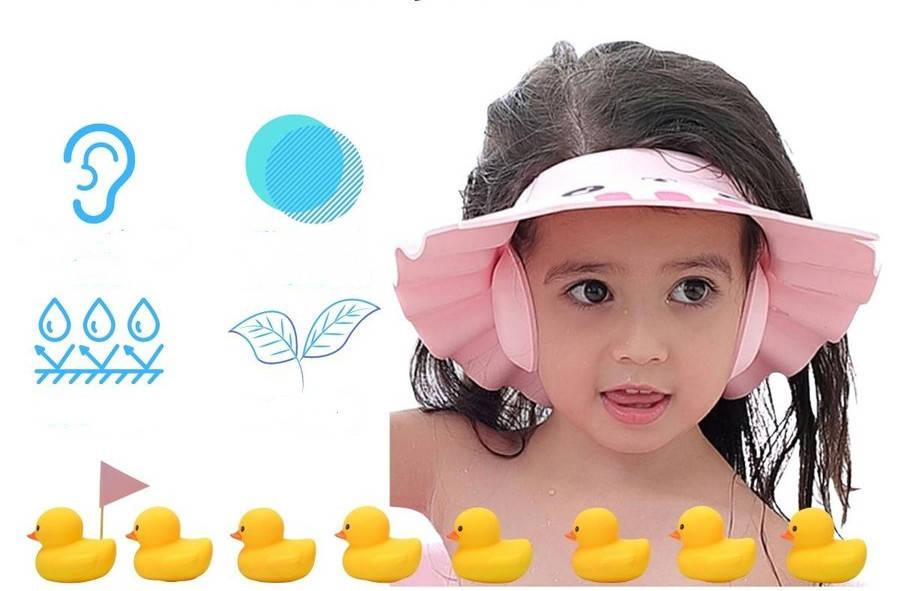 シャンプータイムを楽しく 赤ちゃん ベビー 祝日 新入荷 流行 シャンプーハット バスグッズ 子供 ネコ 調整可能 シャワーキャップ
