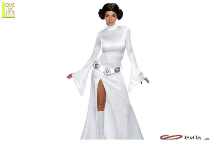 レディ 88R8610 プリンセス レイア ドレス(スターウォーズ)STARWARS 仮装 パーティ レイア姫の白いドレス♪☆AOIコレクションのコスプレシリーズ♪コスプレ 衣装 コスチューム    大