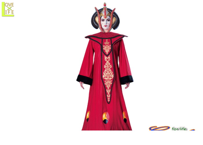 レディ 88R8891 女王アミダラデラックス(スターウォーズ)STARWARS 仮装 パーティ 女王アミダラのデラックスコス♪☆AOIコレクションのコスプレシリーズ♪コスプレ 衣装 コスチューム    大
