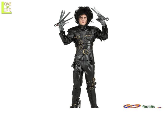 メンズ 56R212 エドワード・シザーハンズ(シザーハンズ)仮装 パーティ 映画の撮影に使えるクオリィティ♪☆AOIコレクションのコスプレシリーズ♪コスプレ 衣装 コスチューム    大