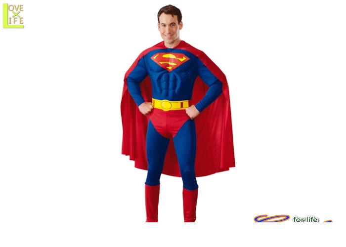 メンズ 88R8016  マッスルチェスト スーパーマン(Superman)仮装 パーティ 着れば誰でもムキムキボディ♪☆AOIコレクションのコスプレシリーズ♪コスプレ 衣装 コスチューム    大