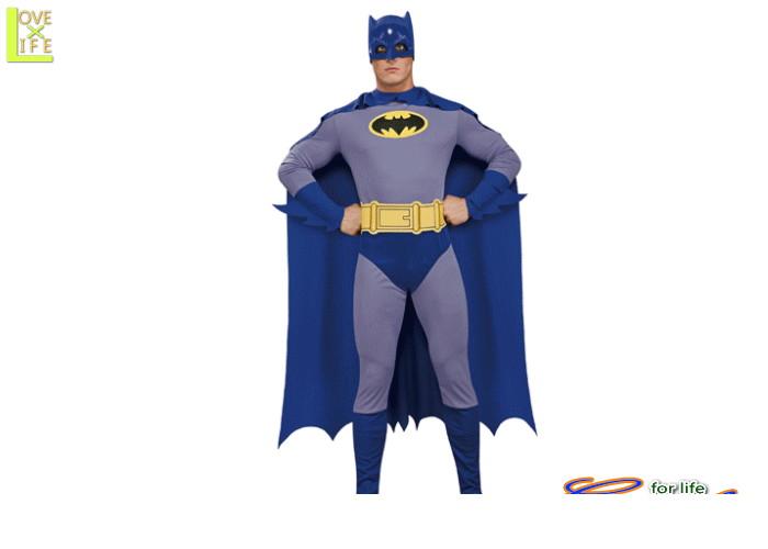 メンズ 88R9053  クラッシック バットマン (Batman)仮装 パーティ アニメカラーのポップなデザイン!アメコミ感がいい♪☆AOIコレクションのコスプレシリーズ♪コスプレ 衣装 コスチューム    大
