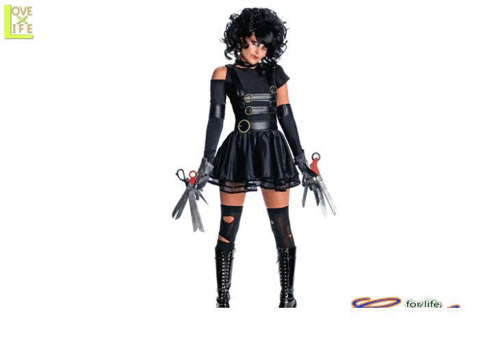 レディ 88R9844 ミス シザーハンズ (シザーハンズ)Scissorhands 仮装 パーティ シザーハンズのエドワードが女の子だったら♪☆AOIコレクションのコスプレシリーズ♪コスプレ 衣装 コスチューム