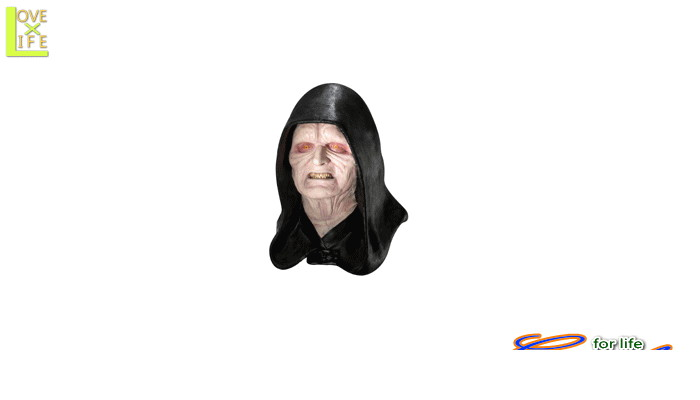 グッズ 41R96 皇帝パルパティーン  マスク (スターウォーズ)かぶりもの STARWARS 仮装 パーティ フォースを感じてください♪☆AOIコレクションのコスプレシリーズ♪コスプレ 衣装 コスチューム