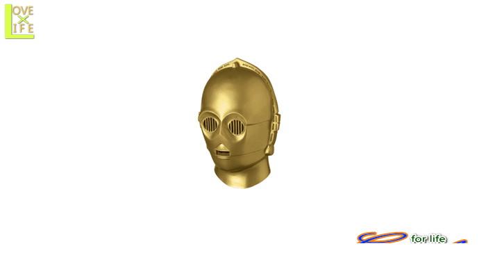 1  C-3PO マスク(スターウォーズ)かぶりもの STARWARS 仮装 パーティ 本格的なラテックスマスク♪☆AOIコレクションのコスプレシリーズ♪コスプレ 衣装 コスチューム    大