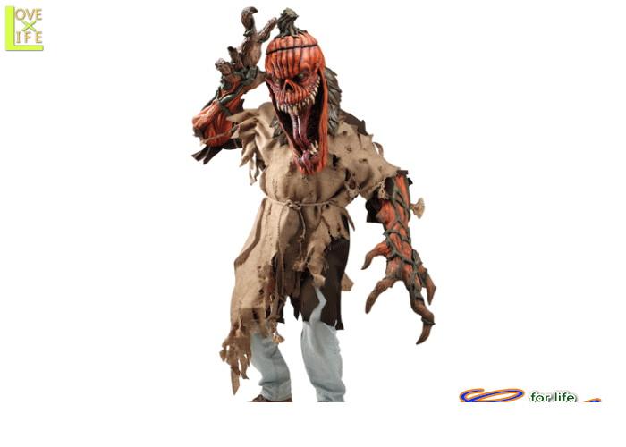 メンズ 73R235 ダーク パンプキンかぼちゃ オバケ 仮装 パーティ ハロウィン ダークデザインのパンプキンコス♪☆AOIコレクションのコスプレシリーズ♪コスプレ 衣装 コスチューム    大