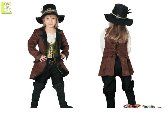 キッズ 80R2070 アンジェリカ(ジャケットタイプ)(パイレーツ・オブ・カリビアン)キッズ  ディズニー Disney ヒロイン、女海賊・アンジェリカのコス♪☆AOIコレクションのコスプレ♪コスプレ 衣装 コスチューム   大