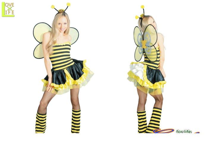 【レディ】【80R2122】クィーン ビー レディ【ミツバチ】【ハチ】【クイーン】【仮装】【パーティ】女王蜂をモチーフにしたコスチュームです♪☆AOIコレクションのコスプレシリーズ♪【コスプレ】【衣装】【コスチューム】【】【 】