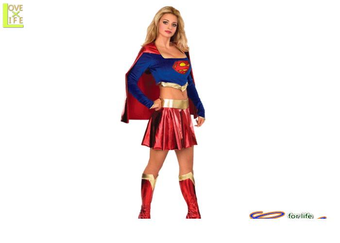 レディ 88R8441 アダルト スーパーガールSupergirl スーパーマン 仮装 パーティ スーパーガールの女性サイズコス♪☆AOIコレクションのコスプレシリーズ♪コスプレ 衣装 コスチューム