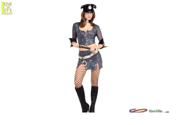 1  オフィサー ミランダライト警察 ポリス 婦人警官 仮装 パーティ キラキラど派手なポリスのコスチューム♪☆AOIコレクションのコスプレ♪コスプレ 衣装 コスチューム    大
