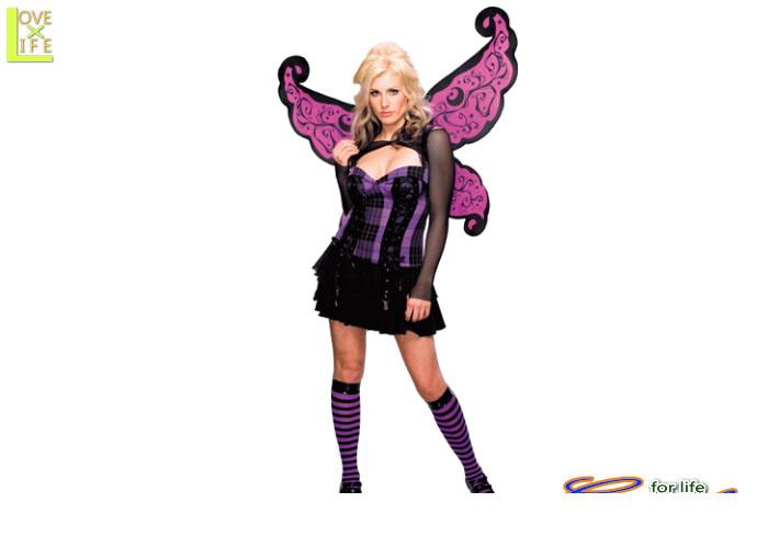 【1 】パンク フェアリー 【蝶々】【妖精】【天使】【翼】【仮装】【パーティ】【ハロウィン】カジュアルでキュートな妖精の大人サイズコス♪☆AOIコレクションのコスプレ♪【コスプレ】【衣装】【コスチューム】【】【 】【大 】【 】