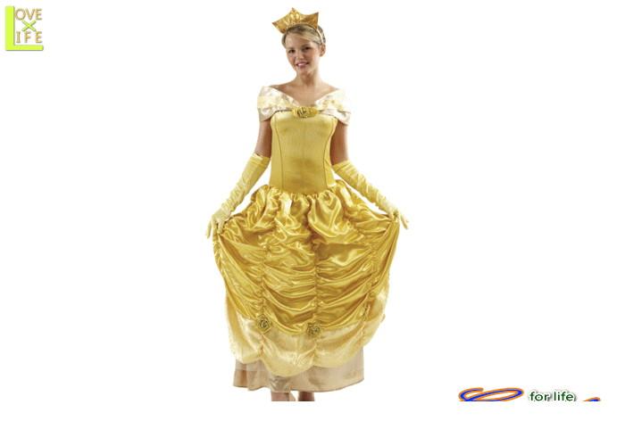 1  ベル(美女と野獣)ディズニー Disney 仮装 ディズニー映画美女と野獣 のヒロイン・ベル♪☆AOIコレクションのコスプレ♪コスプレ 衣装 コスチューム    大