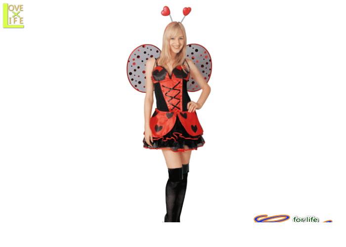 1  ミス レディバグてんとうむし 妖精 天使 翼 仮装 パーティ てんとう虫をモチーフにした大人用コス♪☆AOIコレクションのコスプレ♪コスプレ 衣装 コスチューム    大