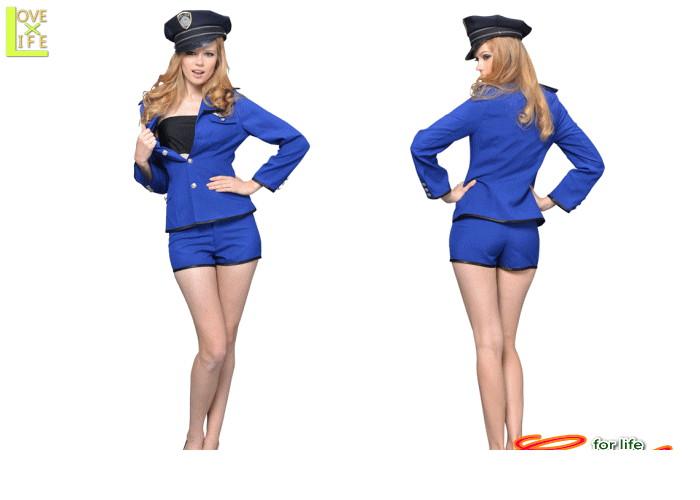 【1 】シングルボタンジャケットブルー【USA】【警察】【ポリス】【婦人警官】【仮装】【コスプレ】タイトなデザインで、セクシーに着こなせるデザイン♪☆AOIコレクションのコスプレ♪【コスチューム】【】【 】【大 】【 】