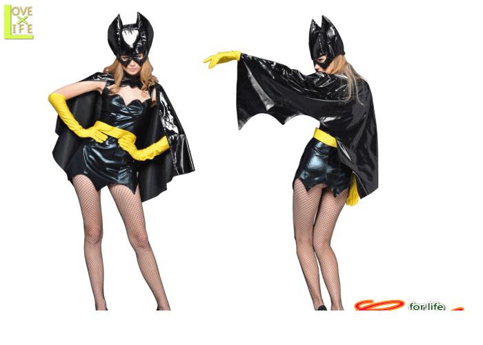 【1 】バットガール(バットマン)【Batman】【仮装】【パーティ】立体感のあるマスクにコウモリをイメージさせるマント♪☆AOIコレクションのコスプレシリーズ♪【コスプレ】【衣装】【コスチューム】【】【 】【大 】【 】
