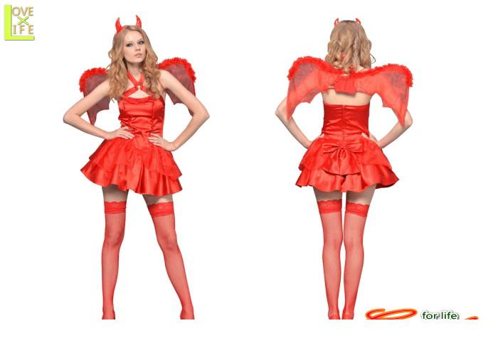 1  レッドデビル悪魔 小悪魔 デビル 仮装 コスプレ タイトなデザインで、セクシーに着こなせるデザイン♪☆AOIコレクションのコスプレ♪コスチューム    大