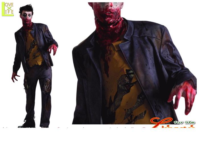 メンズ 88R0242 アンデッド スーツゾンビ 死体 オバケ 仮装 パーティ ゲームに出てきそうなゾンビスーツ!あ~ぁあ~♪☆AOIコレクションのコスプレ♪コスプレ 衣装 コスチューム    大