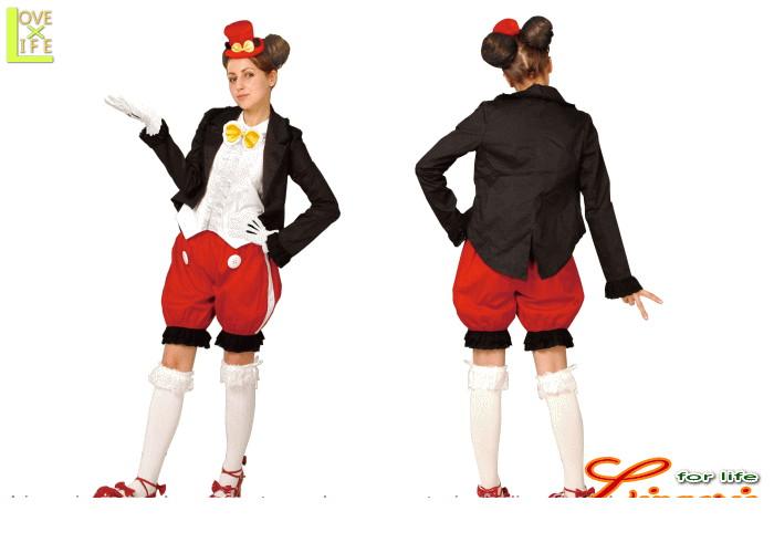 レディ  95R079 ゴシック ミッキーマウス レディ (Disney)パンツ ディズニー  仮装 パーティ ミッキーマウスのゴシック衣装♪☆AOIコレクションのコス♪コスプレ 衣装 コスチューム    大