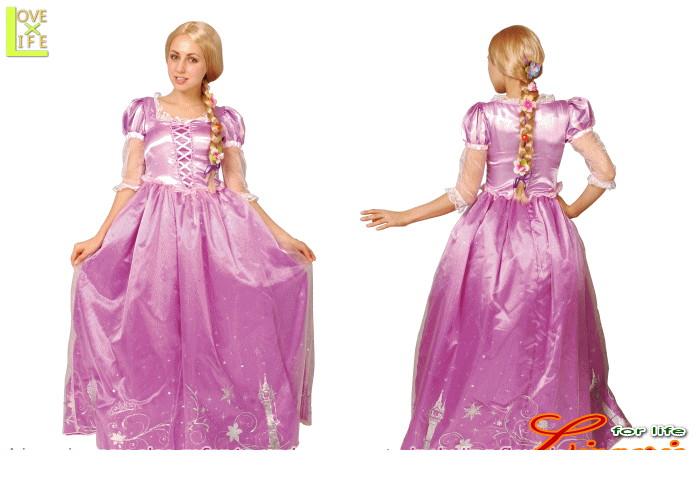レディ 95R080 ラプンツェル レディ ドレスRapunzel Disney ディズニー  お姫様 パーティ ディズニーのプリンス!かわいい♪☆AOIコレクションのコス♪コスプレ 衣装 コスチューム