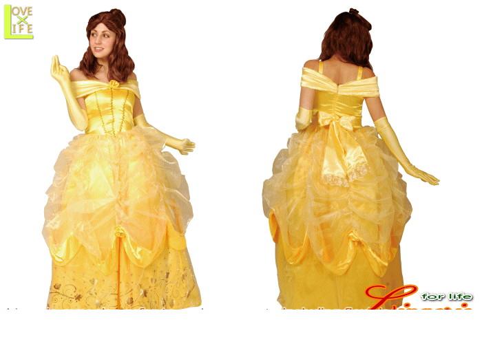 【レディ】【95R086】ベル レディ ドレス【美女と野獣】【Disney】【ディズニー】 【お姫様】【パーティ】ディズニーのプリンスセレクション!ゴージャスでかわいい♪☆AOIコレクションのコス♪【コスプレ】【衣装】【コスチューム】【】