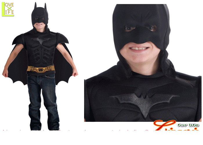 キッズ 88R5100  チャイルド バットマン ダーク キットBatman キッズ 仮装 パーティ 主人公・バットマンの子供サイズコスチューム♪☆AOIコレクションコスプレ 衣装 コスチューム    大