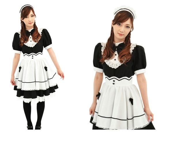 1  ショコラ メイドメイド ウェイトレス 店員 仮装 コスプレ 洗練されたイメージ、メリハリ感の美人メイド☆AOIコレクションのコスプレ♪コスチューム  大