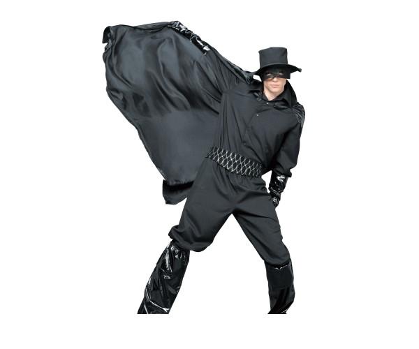 1  ブラックヒーローヒーロ 正義の味方 ゾロ パーティ 仮装 コスプレ これひとつで仮装感たっぷりのダークヒーローに☆AOIコレクションのコスプレ♪コスチューム    大