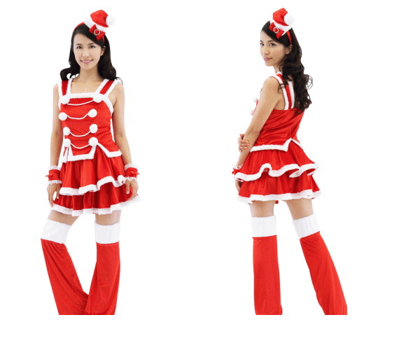 【1 】サンタガール【サンタ】【クリスマス】【サンタクロース】【仮装】【コスプレ】クリスマスはかわいくセクシーに♪☆AOIコレクションのコスプレ♪【コスチューム】【】【 】【大 】