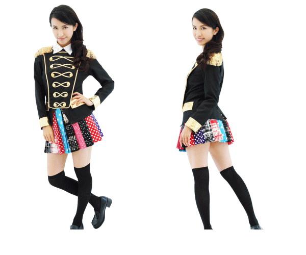 1  AKIBAアイドル(メロディすくーる)アイドル ダンス 制服 衣装 仮装 コスプレ 原宿系のデザインスカートにシックなジャケットで弾けちゃお♪☆AOIコレクションのコスプレ♪コスチューム    大