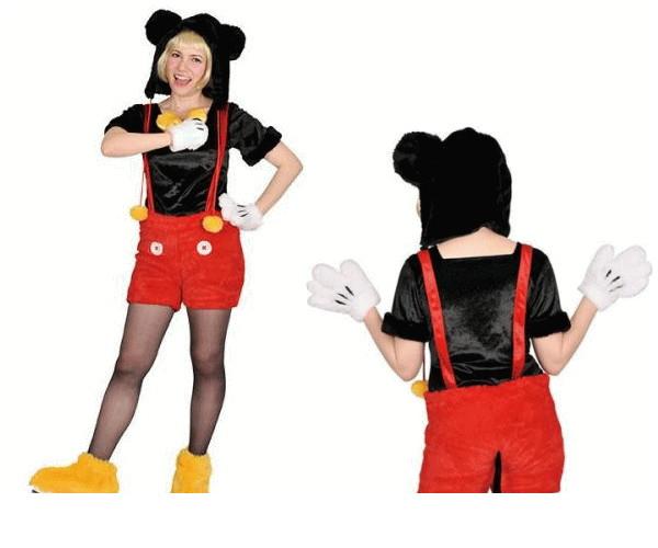 レディ 95R268 アダルト モコモコ ミッキーマウス (Disney)ミッキー ディズニー 仮装 パーティ ランド あったか素材でモコモコかわいい♪☆AOIコレクションのコス♪コスプレ 衣装 コスチューム   大