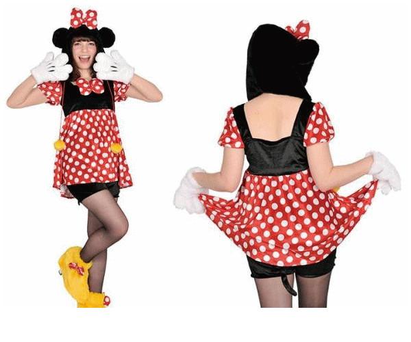 【レディ】【95R269】アダルト モコモコ ミニーマウス (Disney)【ミニー】【ディズニー】【仮装】【パーティ】あったか素材でモコモコかわいい♪☆AOIコレクションのコス♪【コスプレ】【衣装】【コスチューム】【】【 】【大 】