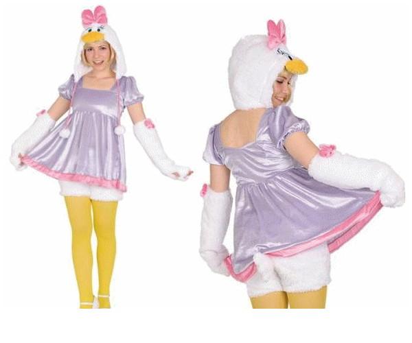 レディ 95R271 アダルト モコモコ デイジーダッグ (Disney)デイジー ディズニー 仮装 パーティ あったか素材でモコモコかわいい♪☆AOIコレクションのコス♪コスプレ 衣装 コスチューム  大