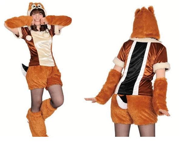 レディ 95R272 アダルト モコモコ チップChip  (Disney)チップ&デール ディズニー 仮装 パーティ あったか素材でモコモコかわいい♪☆AOIコレクションのコス♪コスプレ 衣装 コスチューム    大