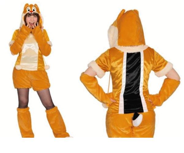 レディ 95R273 アダルト モコモコ デールDale  (Disney)チップ&デール ディズニー 仮装 パーティ あったか素材でモコモコかわいい♪☆AOIコレクションのコス♪コスプレ 衣装 コスチューム    大