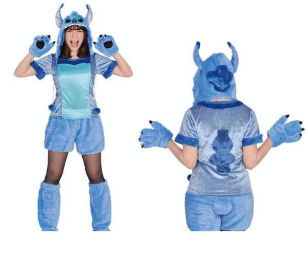 レディ 95R275 アダルト モコモコ スティッチStitch  (Disney)リロ&スティッチ ディズニー 仮装 パーティ あったか素材でモコモコかわいい♪☆AOIコレクションのコス♪コスプレ 衣装 コスチューム   大