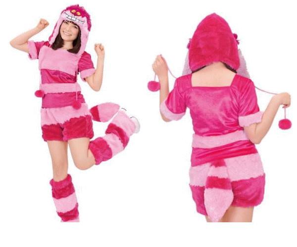 レディ 95R274 アダルト モコモコ チェシャ猫Cheshire 不思議の国のアリス ディズニー 仮装 パーティ あったか素材でモコモコかわいい♪☆AOIコレクションのコス♪コスプレ 衣装 コスチューム  大