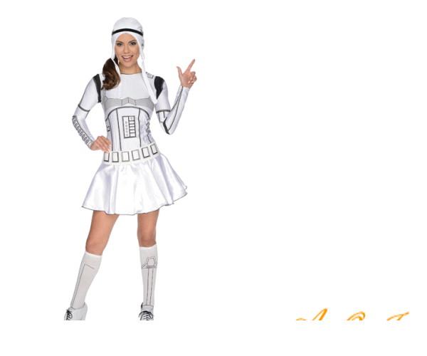 レディ 88R7129 ストームトルーパーStorm trooper  (スターウォーズ)かぶりもの STARWARS 仮装 パーティ 女の子もかわいく変身♪☆AOIコレクションのコスプレシリーズ♪コスプレ 衣装 コスチューム   大