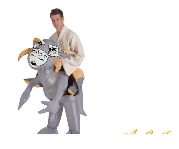 メンズ 88R9831 トントンTauntaun スターウォーズ STARWARS かぶりもの 仮装 パーティ 恐竜に乗ってどこまでも行こう☆AOIコレクションのコスプレシリーズ♪コスプレ 衣装 コスチューム   大