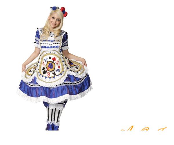 レディ 95R292 Aliceハローキティ キティちゃん アリス 仮装 パーティ サンリオ キティちゃんとアリスのコレボレーション!♪☆AOIコレクションのコスプレシリーズ♪コスプレ 衣装 コスチューム   大