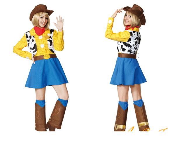 【レディ】【95R309】ウッディ【トイ・ストーリー】【仮装】【パーティ】【Woody Pride】【Toy Story】【カウボーイ】ディズニー/ピクサー映画「トイストーリー」♪☆AOIコレクションのコスプレ♪【コスプレ】【衣装】【コスチューム】【 】【大 】